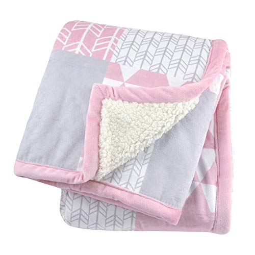 - Just Born 2-Ply Suede Plush Blanket, Pink, One Size