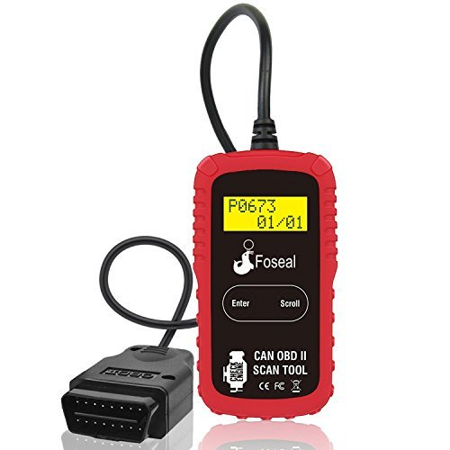 Foseal OBD2 Scanner, OBDII Diagnostic Car Vehicle Scan Tool Code Reader, Car Automotive Check Engine Light Reset, Fix Car Problems Easily, Read and Clear Trouble Codes for All Cars