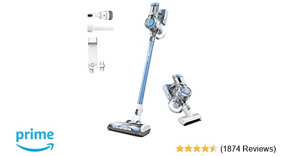 Tineco A11 Hero+ Cordless Vacuum Cleaner, 450W Suction Power with HEPA Filter, Handheld Stick Cordless Vacuum Wall Mounted Dual Charging for Deep ...