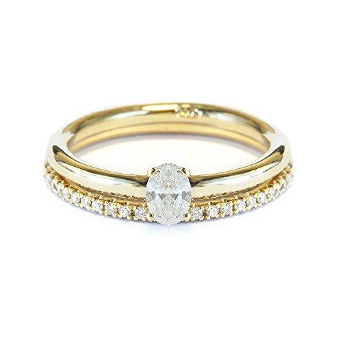 0.25ct Oval Shape Diamond Engagement Ring with matching diamond band, diamond and gold wedding ring set HANDMADE - Silly Shiny Diamonds 14K/ 18K Gold White / Yellow / -