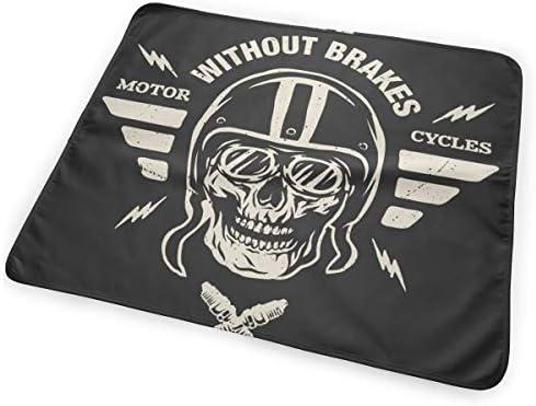 Vintage Racer Skull In Helmet 小さいながらも軽くて柔らかく快適な折り畳みが簡単なハイエンドのファッションシンプルなポップ絶妙なおむつパッド