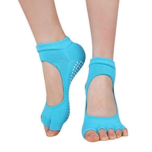 CozyWow Indoor Pilates Toeless Socks