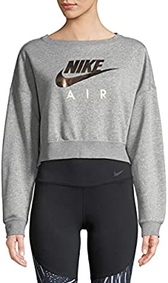 b540db9e9c7e3c Nike Air Women's Rose Gold Metallic Athletic Crew Sweatshirt Small