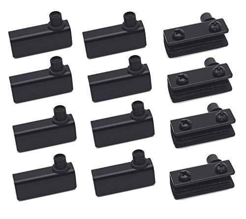 Antrader Glass Door Pivot Hinge, for 5-6mm Free Swinging Glass Doors, Stainless Steel, Satin Black, Pack of 12
