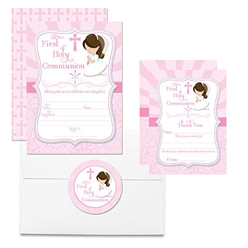 Deluxe First Holy Communion Religious Party for Girls Party Bundle, Includes 20 Each of 5