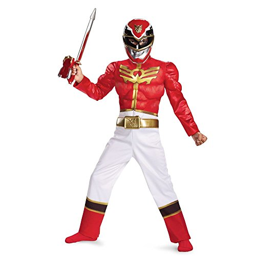Disguise Power Ranger Megaforce Red Ranger Boy's Muscle Costume, 4-6]()