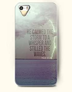He Calmed The Storm To A Whisper And Stilled The Waves Psalm 107:29 - Bible Verses Thudering - iPhone 5 / 5s Hard Back Plastic