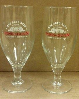 Innis & Gunn Oak Aged Flute Glass, Set of - Oak Aged Beer