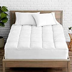 """Transform your bed with this reversible mattress pad, featuring a crisp white hue. So extremely soft and comfortable you be falling asleep in no time. This mattress pad features an 18"""" extra deep pocket that stretches to fit up to 20"""" thick m..."""
