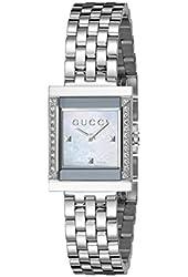 Gucci Women's YA128405 G Frame Timeless Stainless Steel B26 Square Shape Dress Watch