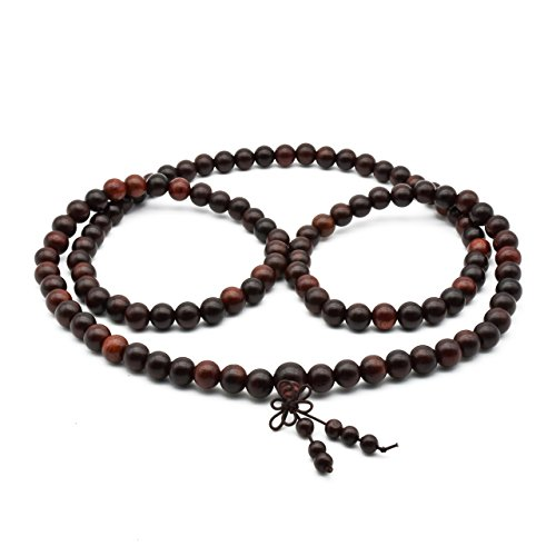 Zen Dear Unisex Natural Rosewood Prayer Beads Buddha Buddhist Prayer Meditation Mala Necklace Bracelet (10mm 108 Beads) by Zen Dear (Image #3)