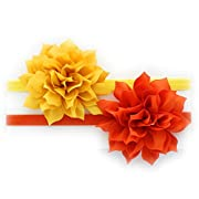 My Lello Baby Petal Flower Headbands Mixed Colors 2-Pack (Yellow/Orange)