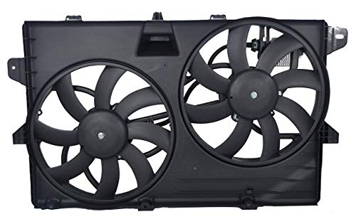 TOPAZ 7T4Z-8C607-A Dual Radiator Cooling Fan Assembly for Ford Lincoln MKX Edge 2007-2015