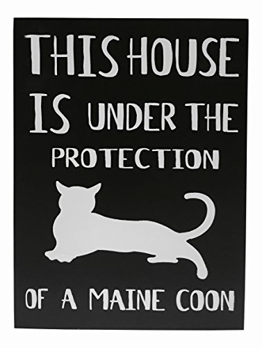 JennyGems Wood Sign This House Is Under the Protection Of A Maine Coon Cat Main Coon Cat