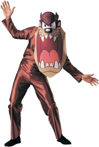 Rubie's Men's Looney Tunes Taz Costume, Grey, One (Tasmanian Devil Looney Tunes Costume)