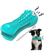 EZSMART Hondenspeelgoed Onverwoestbare piepende hond tandenborstel tandjes verveling interactieve hond kauwspeelgoed voor tanden reinigen voor middelgrote grote ras agressieve kauwer