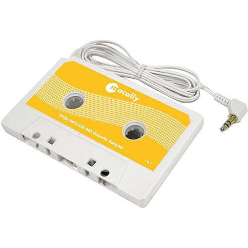 Macally Cassette Tape Adaptor for iPod/iShuffle White POD-TAPE