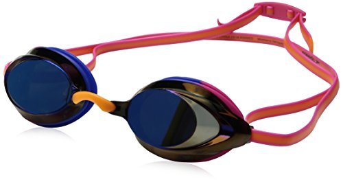 Speedo Women's Vanquisher 2.0 Mirrorred Swim Goggle, One Size, Hot - Of Frames Types Goggles