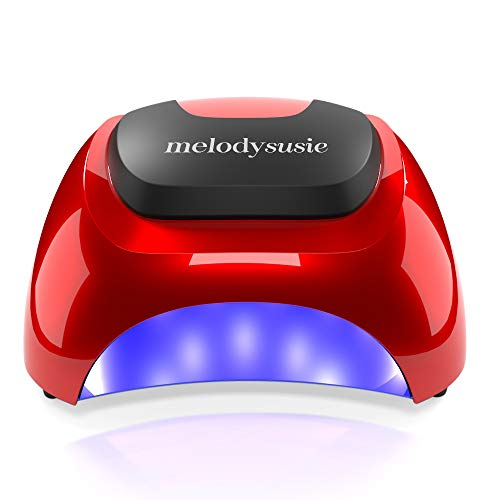 MelodySusie LED Nail Lamp, Professional LED Gel Nail Dryer Nail Light with 3 Timer Controls Super Chip Fast Curing LED Gel Nail Polish (Chic Red) (Best Rated Nail Polish Brands)