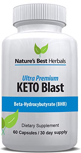 Ultra Premium Keto Blast | Weight Loss Supplement to Burn Fat Fast - Boost Energy and Metabolism | BHB Ketogenic | Best Keto Diet Pills - 60 Capsules