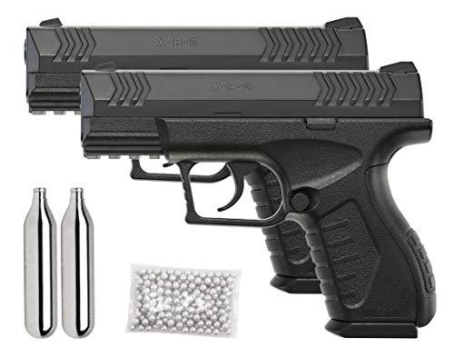 Umarex XBG .177 Caliber BB Gun Air Pistol, 2 Pack Kit, Black