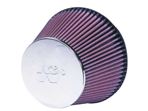 K&N RC-2960 Universal Clamp-On Air Filter: Round Tapered; 6 in (152 mm) Flange ID; 5 in (127 mm) Height; 7.5 in (191 mm) Base; 5.125 in (130 mm) Top