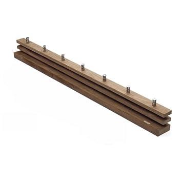 Cutter - Perchero (100 cm, Acero y Madera, Roble, estándar ...