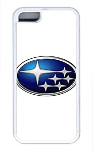 iPhone 5C Case, iPhone 5C Cases - Protective Soft-Interior Scratch Protection Case for iPhone 5C Subaru Car Logo 1 Soft Flexible Extremely Thin White Case for iPhone 5C