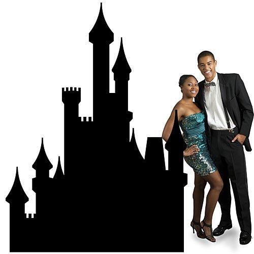 Palace Scene Setter - 8 ft. Fairytale Castle Silhouette Standee