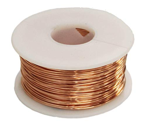 Solid Bare Copper Round Wire 1/2 Lb Spool (20 Ga / 157 Ft) ()