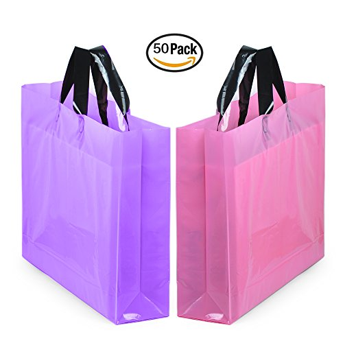 yookeehome-14-x-18-large-merchandise-bags-with-handles-with-bottom-gusset-pink-and-purple-thick-fros