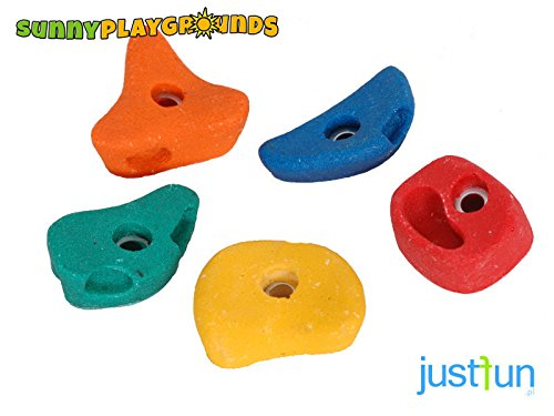 CLIMBING ROCKS for KIDS SET of 5 SIZE MEDIUM Multicolor Rocks- Outdoor and Indoor Playground Set Accessories for Kids by Sunnyplaygrounds