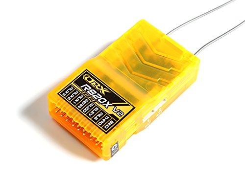 - HobbyKing OrangeRx R820X V2 8Ch 2.4GHz DSM2/DSMX Comp Full Range Rx w/Sat, Div Ant, F/Safe & SB
