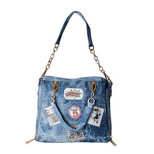 Blue Jean Birkin - New Jean crossbody bag fashion art style handbag shoulder tote bag bag blue large capacity tote bag outdoor party can be used for women
