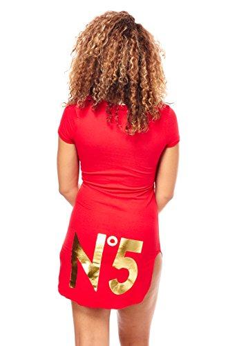 Pour Femmes Dames Assez Belle Robes Boyfriend Patterns N.5 Queen Bb689-no.5 (s, Rouge)