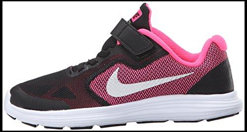NIKE Kids' Revolution 3 Running Shoe (PSV), Black/Metallic Silver/Hyper Pink/White, 1.5 M US Little Kid by Nike (Image #5)