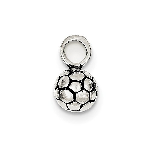 Jewelry Pendants & Charms Themed Charms Sterling Silver Antiqued Soccer Ball Charm