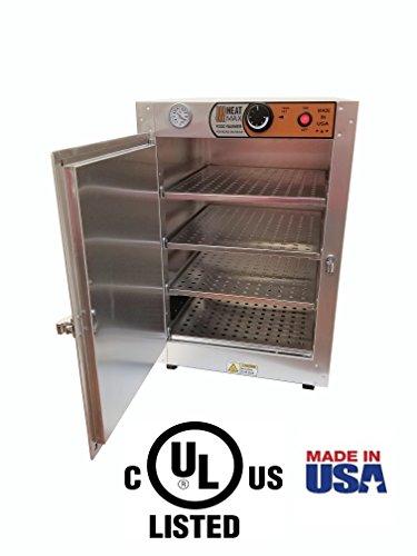 (HeatMax 16x16x24 Hot Box Food Warmer, Countertop Pizza, Patty, Pastry, Empanada, Concession Hot Food Holding Case)