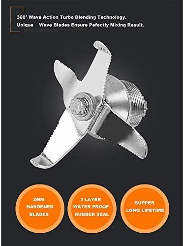 Blender, multifunctionele fabrikant van blender met overbelastingsbeveiliging en 2200 W motor met bescherming van de capaciteit 2 l temperatuur