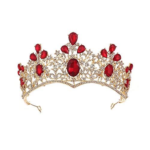 JYEMDV Luxury Vintage Baroque Queen's Crown Golden Bridal