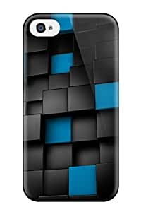 iphone covers Durable Protector Case Cover With 3d Black Cubes S1 Hot Design For Iphone 5c