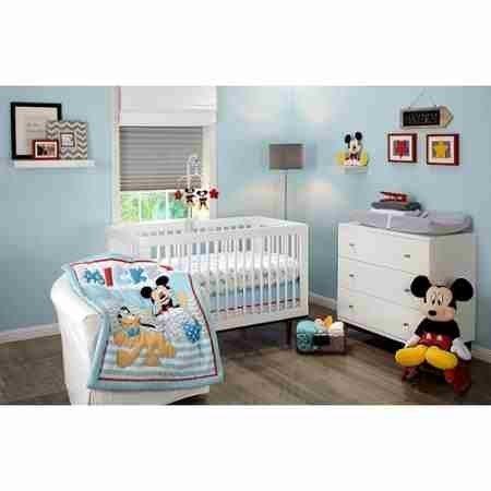 Disney Let's Go Mickey Mouse Adorable 3-Piece Crib Bedding Set (Mickey Mouse Crib Sheets compare prices)