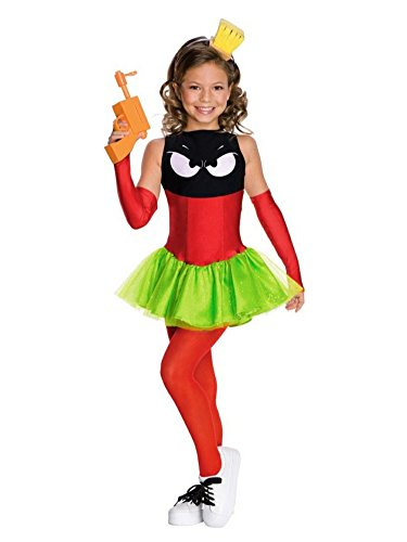 Marvin The Martian Girl Child Costumes (Looney Tunes Girls Marvin the Martian Costume M (8-10))