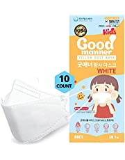 K94 Kids Disposable Face Mask, Breathable Mask with Quadruple Filtration System and Skin-Friendly Inner Layer, Soft Ear Band for 4Y-12Y Boys and Girls - Good Manner