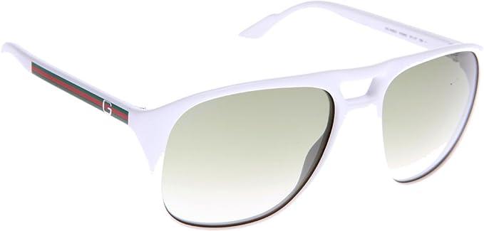 83e0e7c74e Gucci Occhiali da Sole GG 1018 S NC Bianco Unica  Amazon.it  Abbigliamento