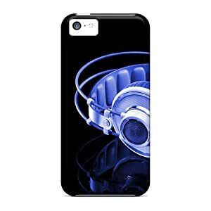 Premium Durable Headset Fashion Tpu Iphone 5c Protective Case Cover