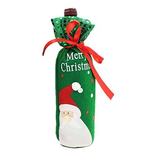 Dinner Knot (STORE-HOMER - Christmas Wine Bottle Bag Bow-Knot Christmas Tree Santa Claus Snowman Bottle Cover Bag Dinner Party Decoration Christmas Gift)