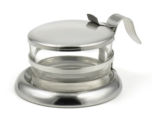 StainlessLUX 73444 Brilliant Stainless Steel Salt Server / Cheese Bowl / Condiment Glass Serving Bowl - Quality Serveware for Your Kitchen