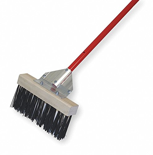 Metal Push Broom, 12'' Sweep Face by TOUGH GUY