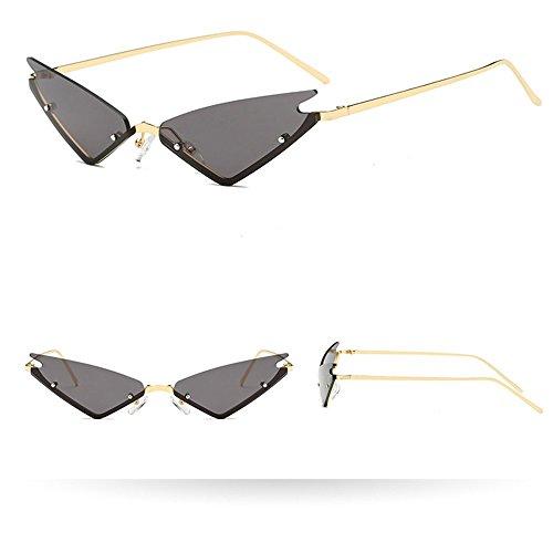 AMOFINY Fashion Glasses Women Man Fashion Vintage Irregular Shape Sunglasses Eyewear Retro ()